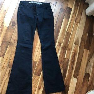 Dark blue trouser style jeans